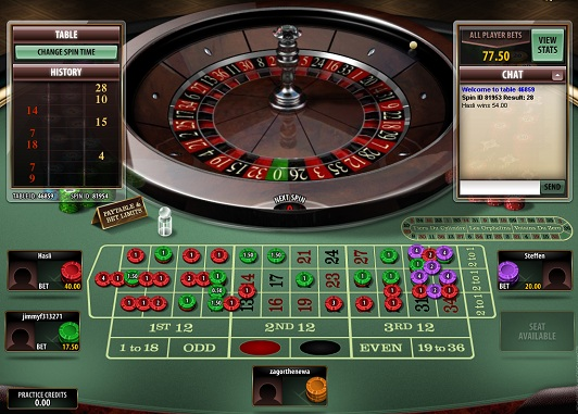 ルーレット multi-player ROULETTE TABLE