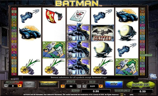 VIDEO SLOT BATMAN